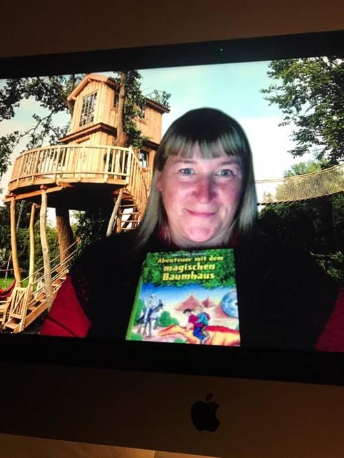 Spannung bis zu letzt - Der Buchklassiker - das magische Baumhaus - wurde per Hntergrund-Bilder untermalt
